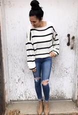 Oversized Striped Knit