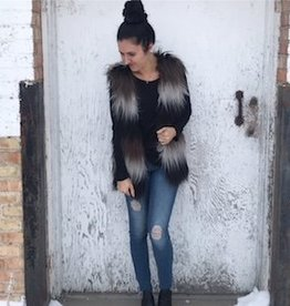 LOSA Two Tone Faux Fur Vest -