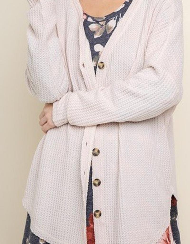 LOSA Button Thermal Cardigan -