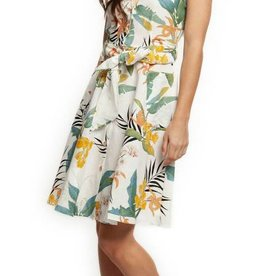 Dex CAP SLV V-NECK BUTTONED FRONT DRESS -