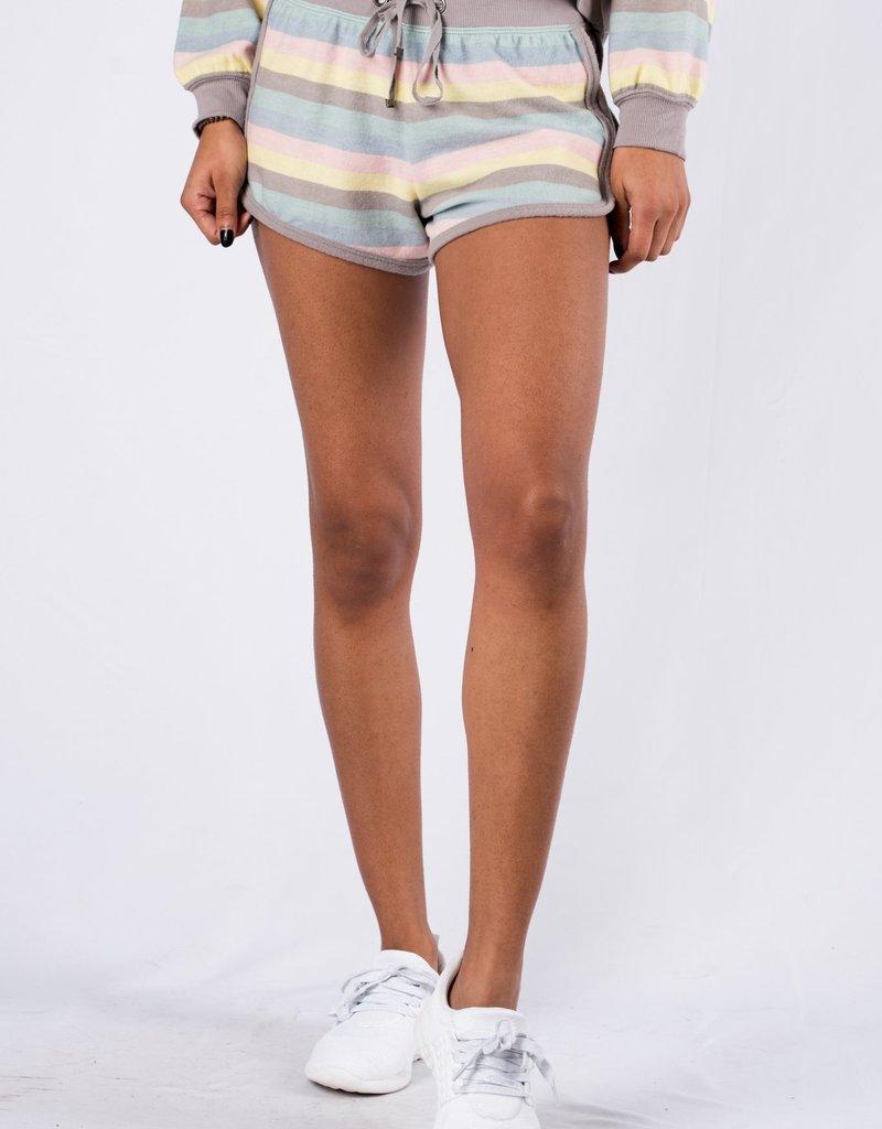 Rainbow Striped Short