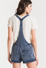 Stripe Knit Denim Shortalls