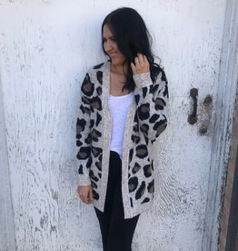 RD International Leopard Cardigan