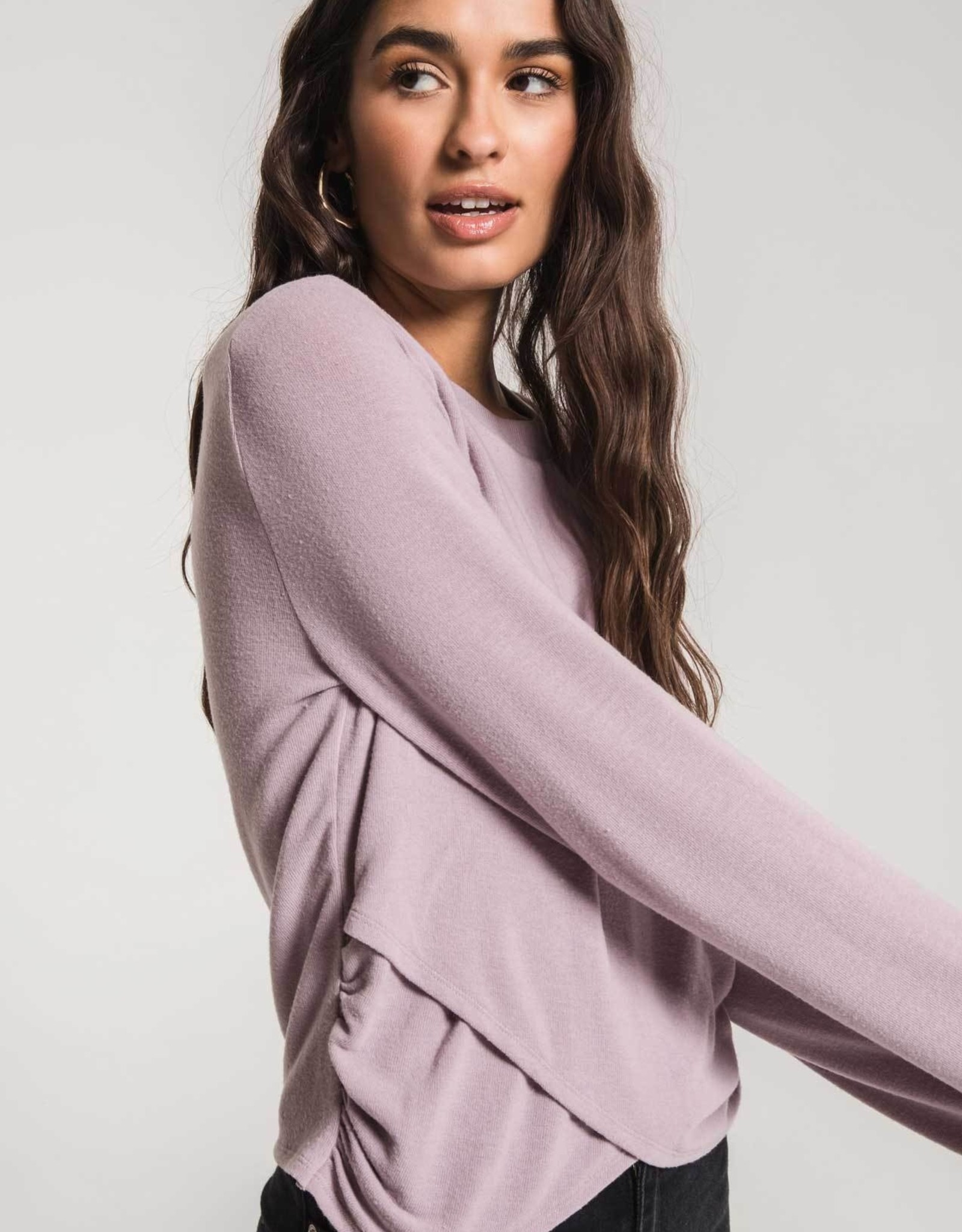 The Soft Spun Rouched L/S