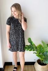 Brunette Leopard Tee Dress