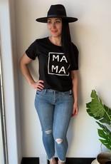 LOSA MAMA Square Tee - Black - OS