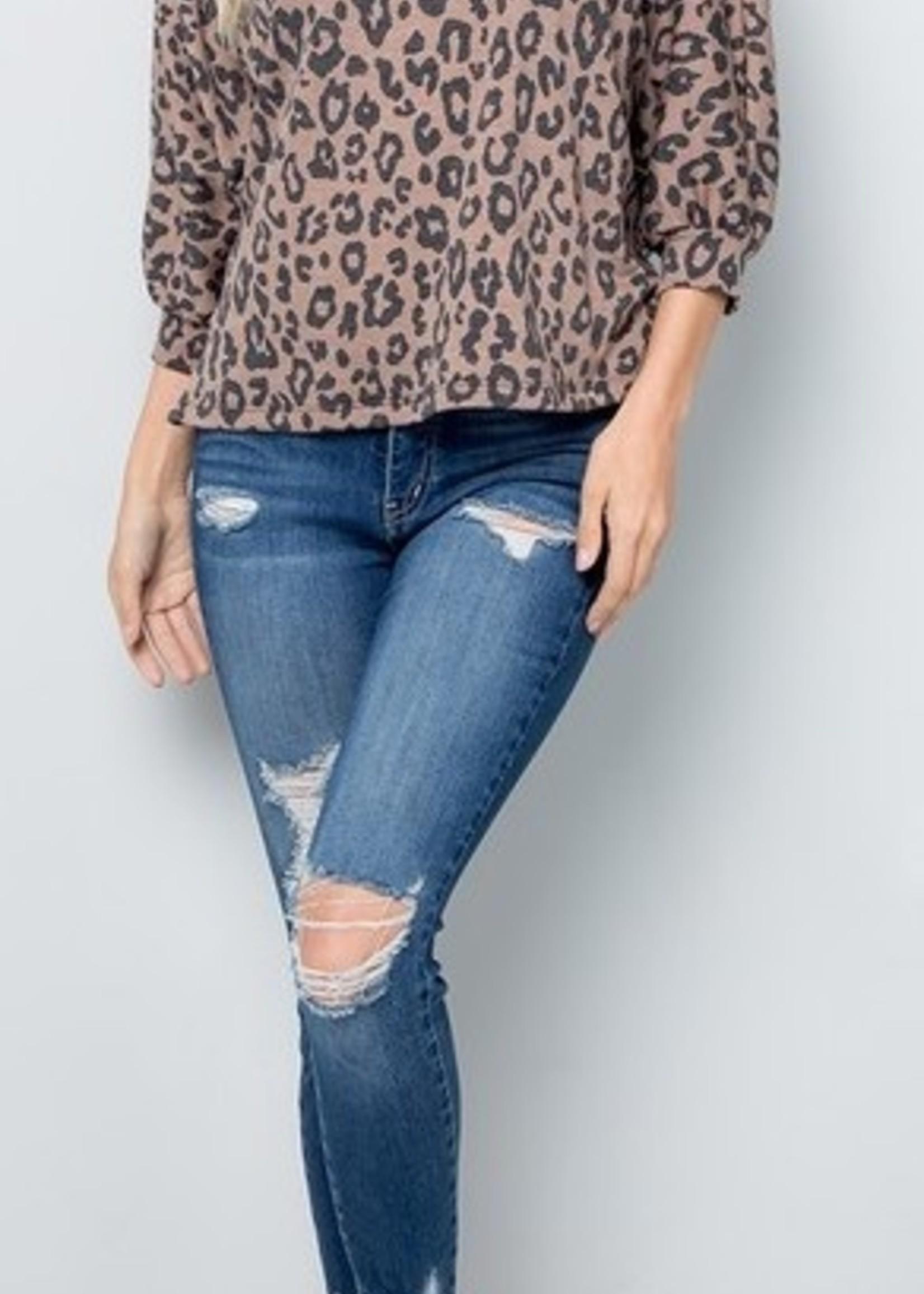 LOSA Leopard Open Back