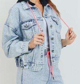 LOSA Acid Wash Hooded Jacket
