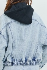 LOSA Acid Wash Hooded Jacket