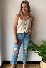 Levi's 501 Montgomery Patched Crop