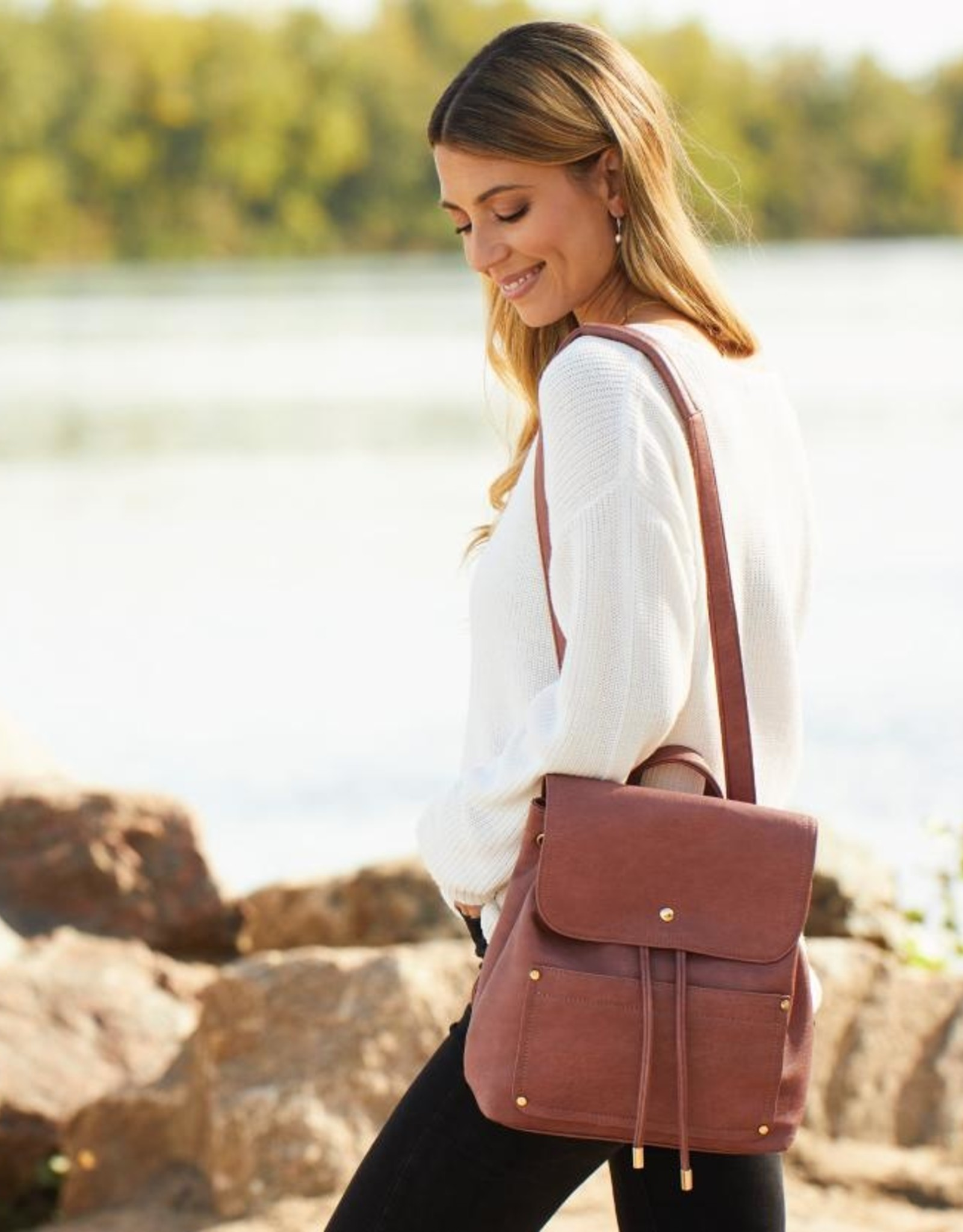 Button Snap Backpack