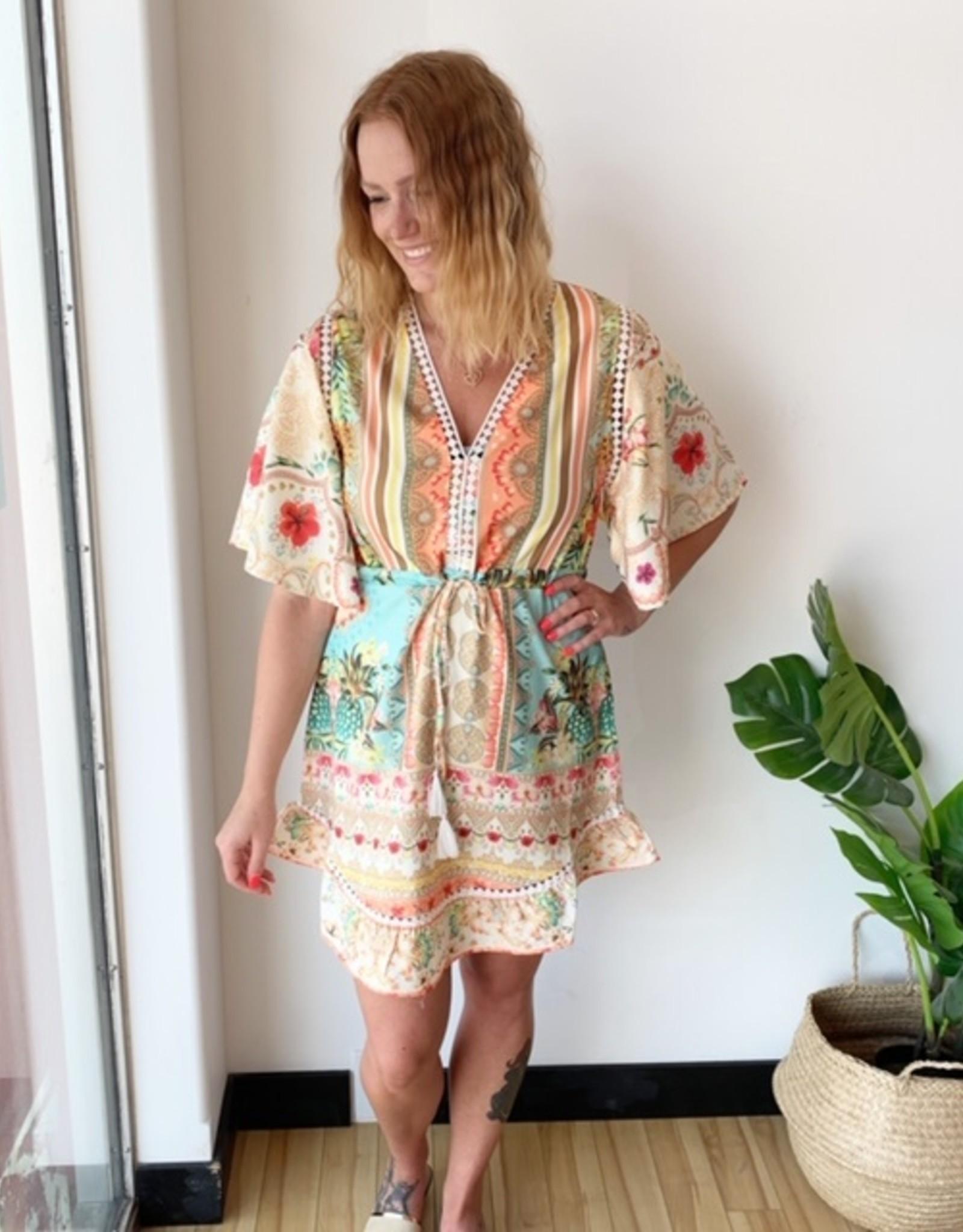 California Moonrise Tropical Boho Dress