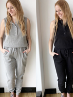 RD STYLE Waffle Jumpsuit