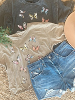 LOSA Butterfly Cropped Tee