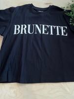brunette the label Brunette Serif Boxy Tee
