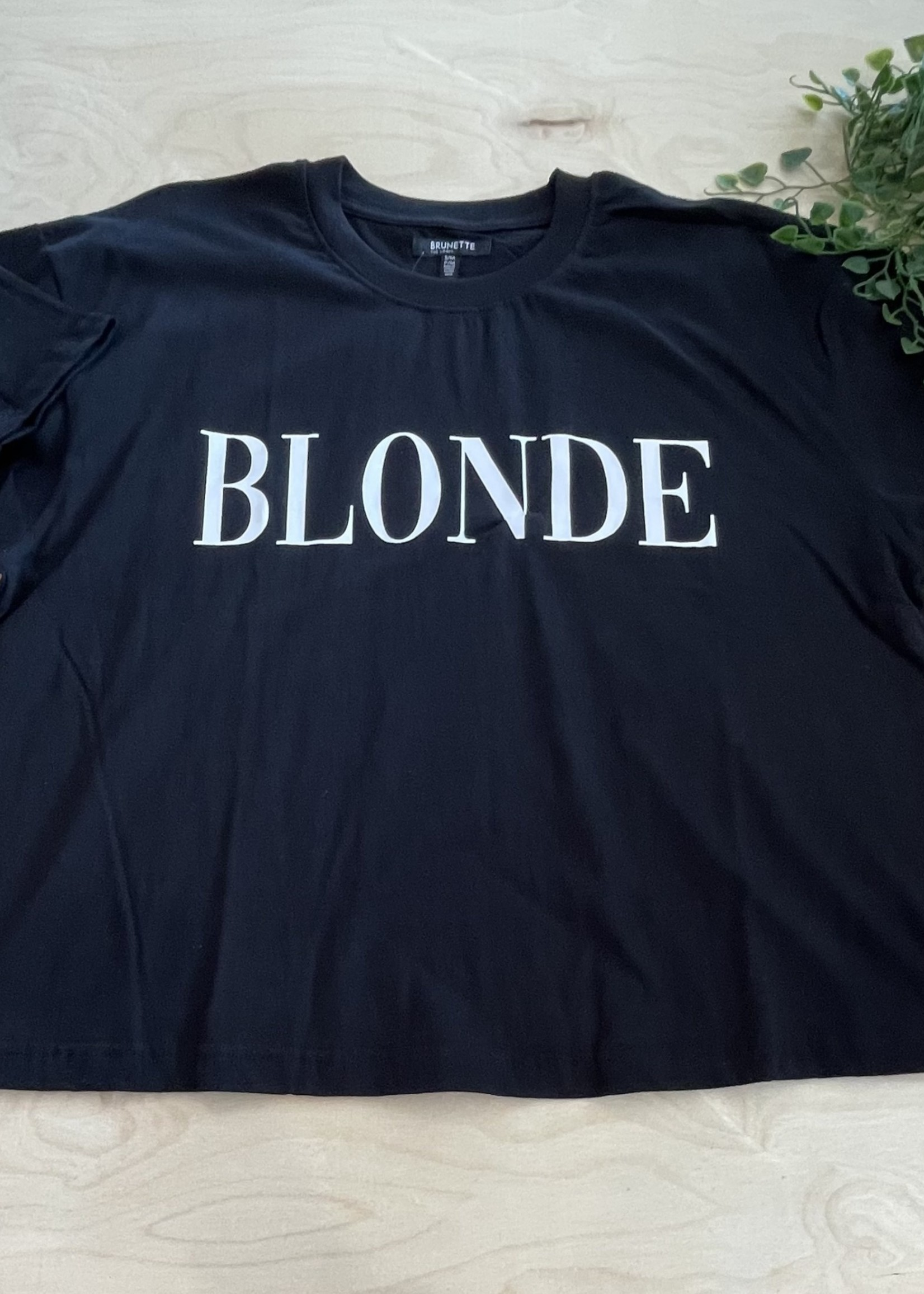 brunette the label Blonde Serif Boxy Tee
