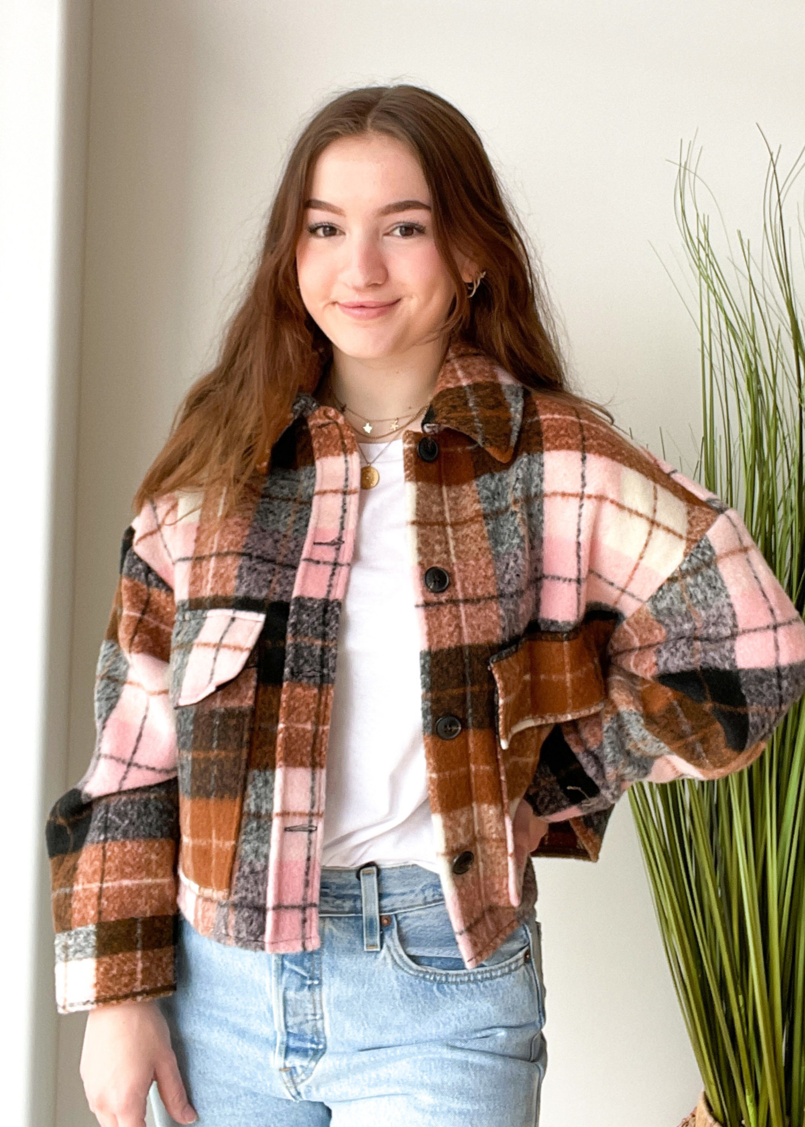 ONLY Crop Check Jacket