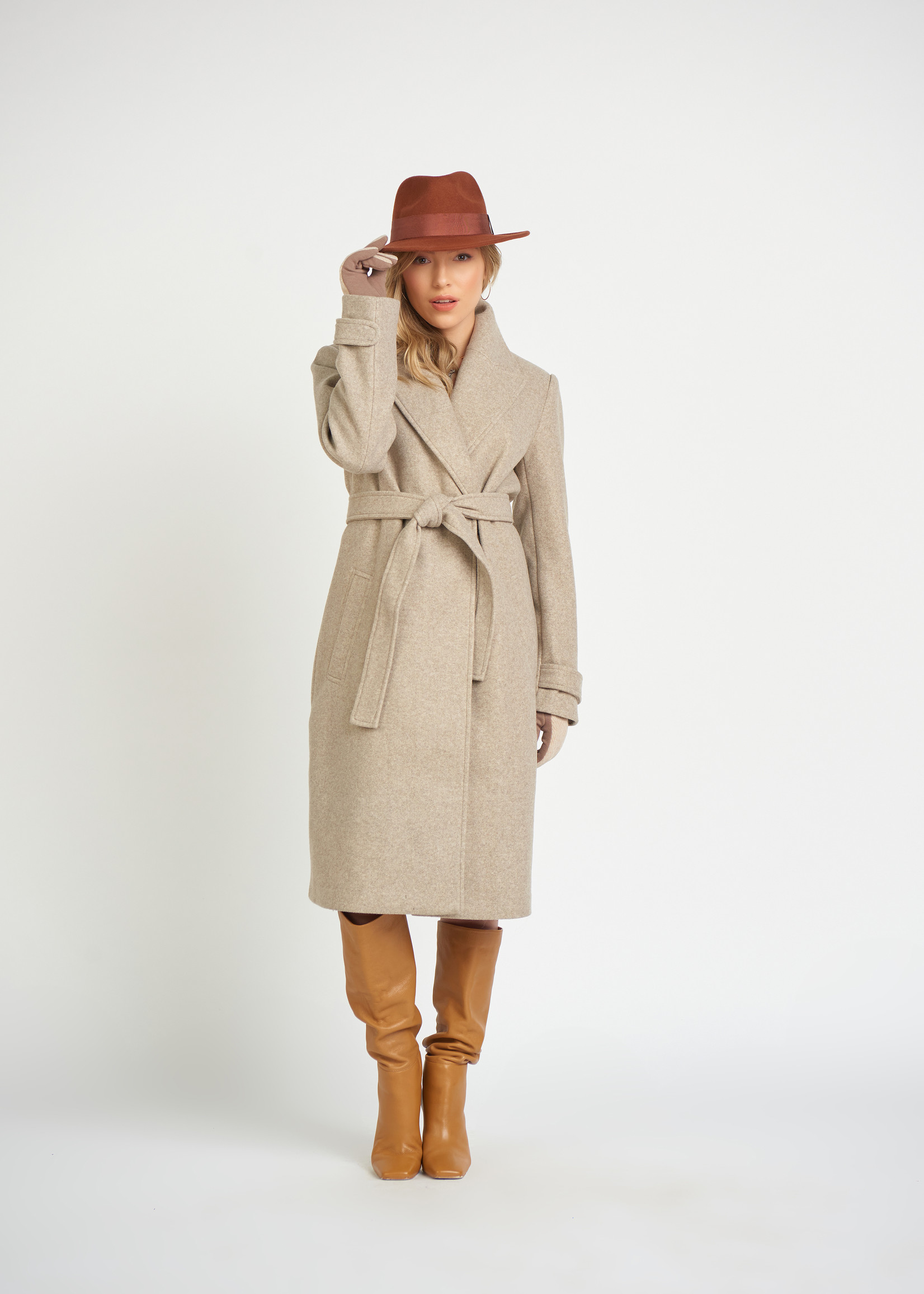 Dex Belted Collar Coat