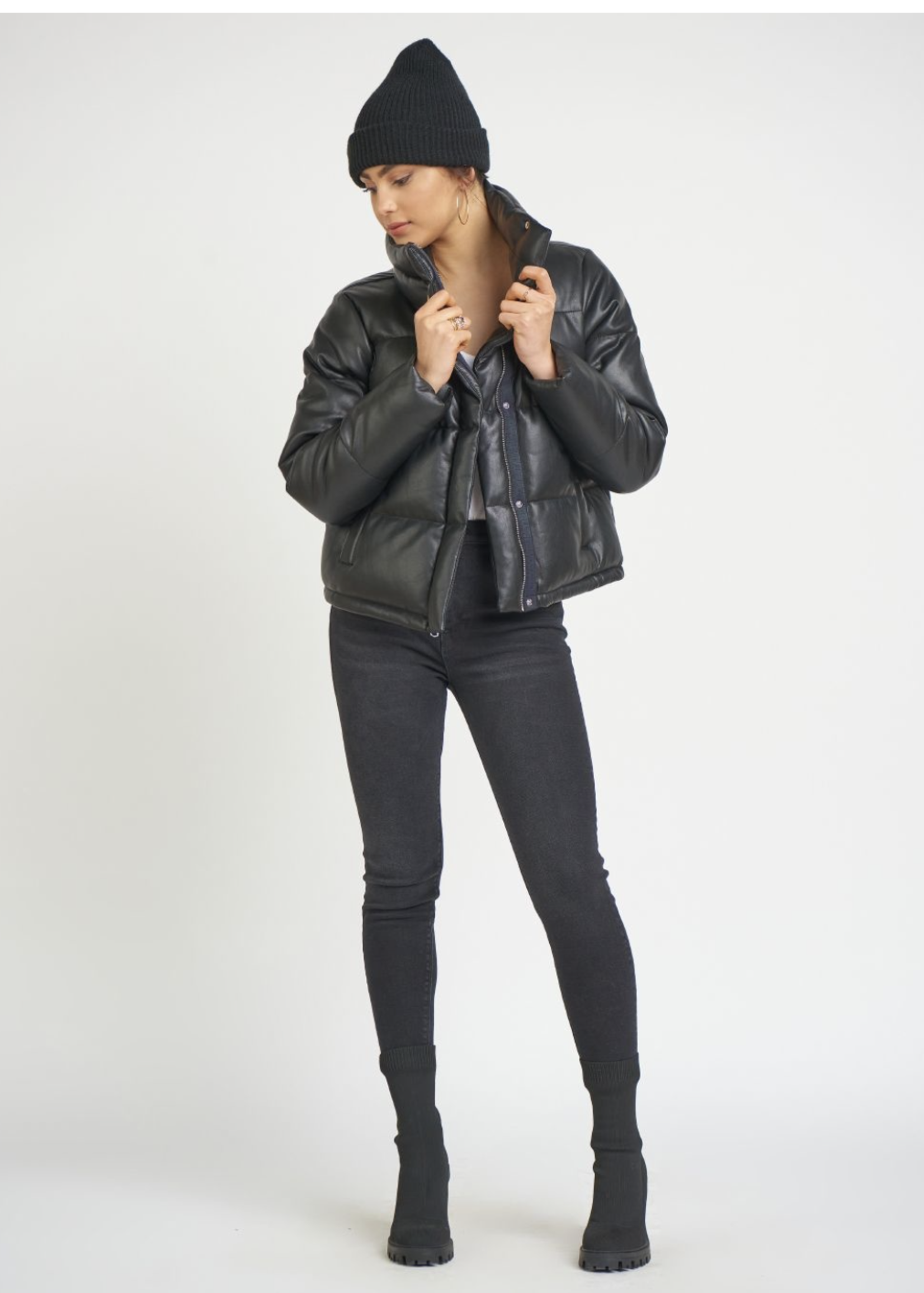Dex Puffer Faux Leather