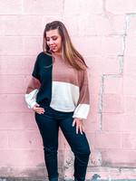 LOSA Color Block Knit