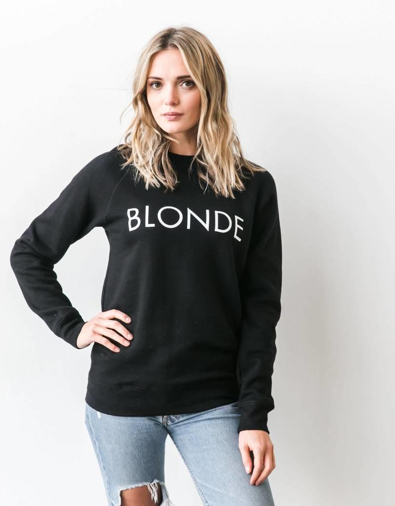 Brunette Blonde Crew - Black