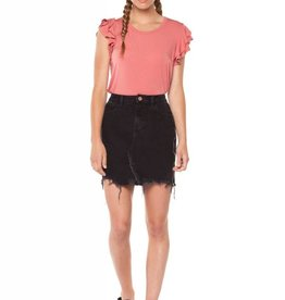 Dex Denim Skirt With Side Zippers