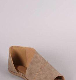 LOSA Open Toe Flats