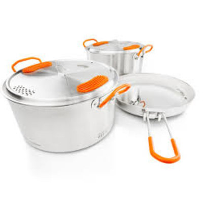 GSI - Glacier Stainless Base Camper Medium COOKSET