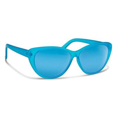 FORECAST OPTICS Forecast Optics - Handstand Sunglasses - Matte Blue Crystal/Blue Mirror Lens
