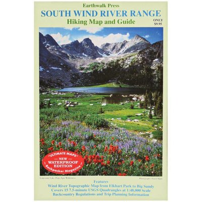 LIBERTY MOUNTAIN Earthwalk Press - Trails Map - South Wind River Range