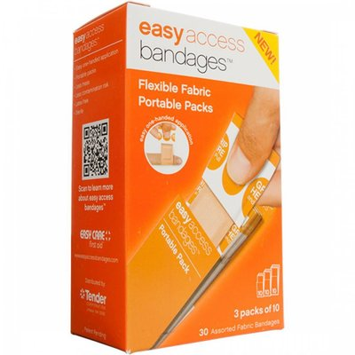 Easy Care - Fabric Bandages Assort, 30 PK