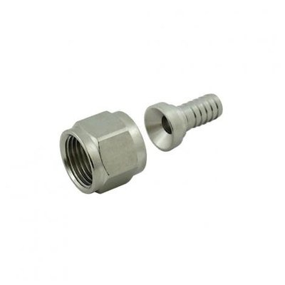 "Foxx Equipment Swivel Nut Hose Stem - Stainless Steel - 1/2"" FFL x 3/8"" barb"