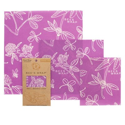 Bees Wrap Bees Wrap Assorted Wraps- Clover Print Mimi's Purple