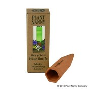 Indoor Gardening Plant Nanny Terracotta Automatic Waterer - Wine Bottle