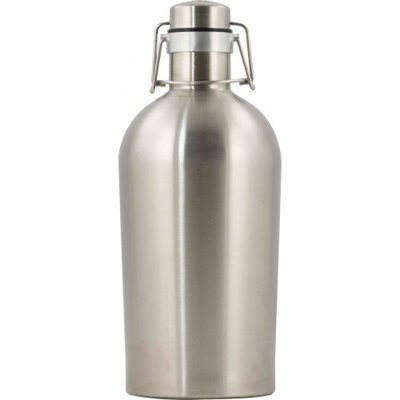 Beer and Wine Stainless Steel Double Walled Growler - 2 Liter