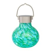 Home and Garden Soji Glass Solar Tea Lantern - Mint