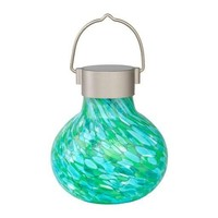 Home and Garden Solar Glass Tea Lantern - Mint