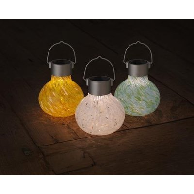 Home and Garden Solar Glass Tea Lantern - Mint