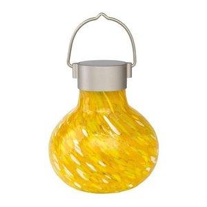 Home and Garden Solar Glass Tea Lantern - Saffron