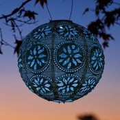 Home and Garden Soji Stella Boho Solar Lantern - Blue