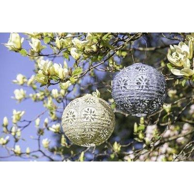 Home and Garden Soji Stella Boho Solar Lantern - Pearl