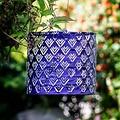 Home and Garden Soji Stella Drum Lantern-Plum