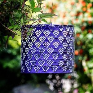 Home and Garden Soji Stella Drum Lantern-Plum