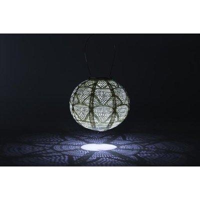 Home and Garden Soji Stella Globe Solar Lantern - Pearl