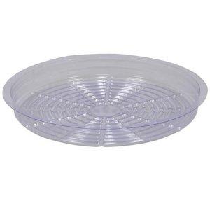 Indoor Gardening Clear Plastic Saucer - 6 inch