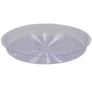 Indoor Gardening Clear Plastic Saucer - 21 inch