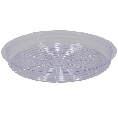 Curtis Wagner Clear Plastic Saucer - 21 inch