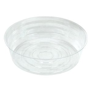 Curtis Wagner Clear Deep Plastic Saucer - 8 inch