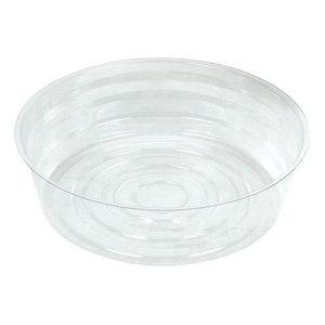 Indoor Gardening Clear Deep Plastic Saucer - 8 inch