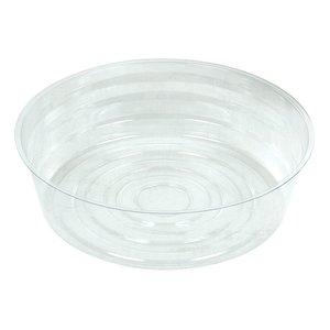 Indoor Gardening Clear Deep Plastic Saucer - 10 inch